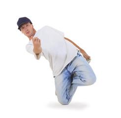 Cool looking hip-hop dancer