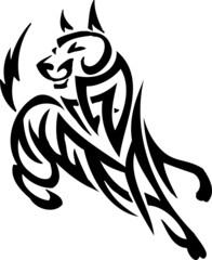 vector vilyl-ready illustration - animal in tribal style