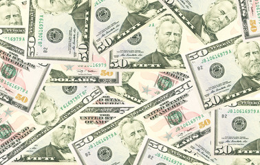 Dollars seamless background. High resolution seamless texture.