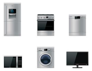 Vector major appliances set