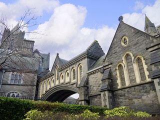 Christ Church Anglican Cathedral in Dublin City Ireland