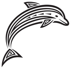 dolphin tribal tattoo design