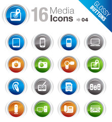 Glossy Buttons - Media Icons