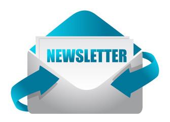 newsletter envelope illustration design on white illustration