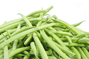 French Green Beans Isolated on White