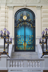 A door of Chakri Mahaprasat, Grand Palace, Bangkok