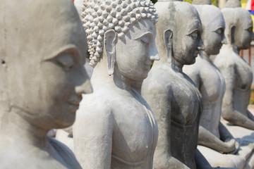 Lot of buddha statue, Shallow DOF