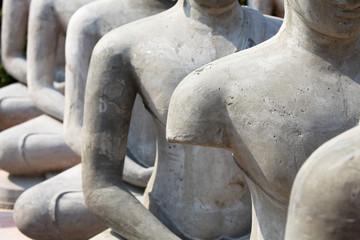 Incomplete buddha statue