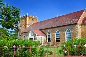 Ancient colonial church. Jamaica..