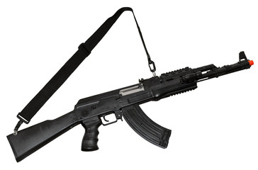 Kalashnikov AK-47 machine gun. Clipping path
