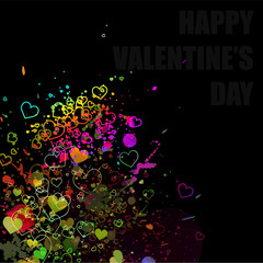 Valentine concept abstract watercolor splash background