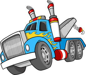 Tow Truck Vector Illustration