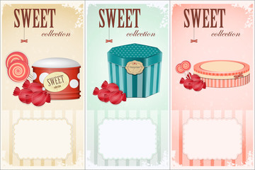 Sweet collection - price labels with place for text