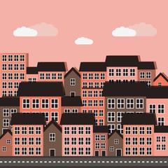 cute city scene