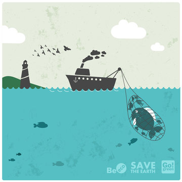 """fishing industry - eco balance """"don't take too much"""""""
