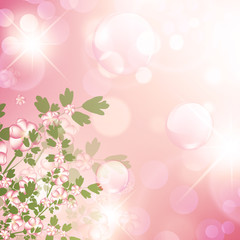 floral bubbly background