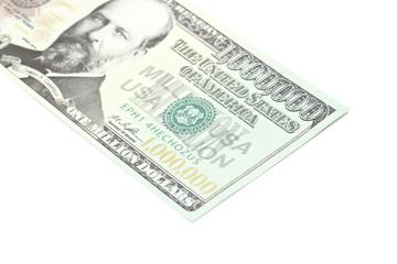 One million dollars banknote closeup