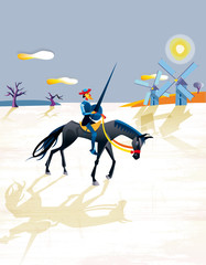Don Quijote And Windmills