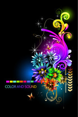 Color and Sound Background