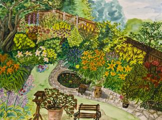 Garden, painting