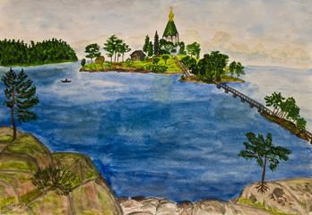 Valaam island, painting