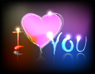 Vector neon valentine
