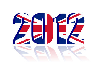 Year 2012 with Flag of England - vector file