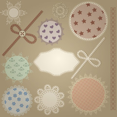 vector scrapbook design elements,  patterns can  be used separat