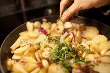 fried potato home made