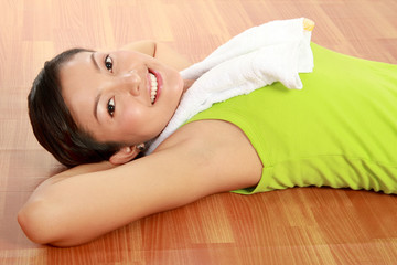 healthy woman resting