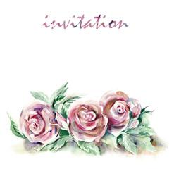 Watercolor -Roses-
