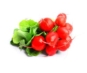 A bunch of delicious healthy radish