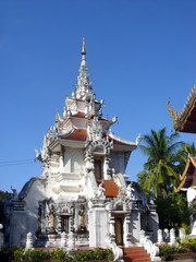 Ornate Buddhist chedi, Chiang Mai, Thailand