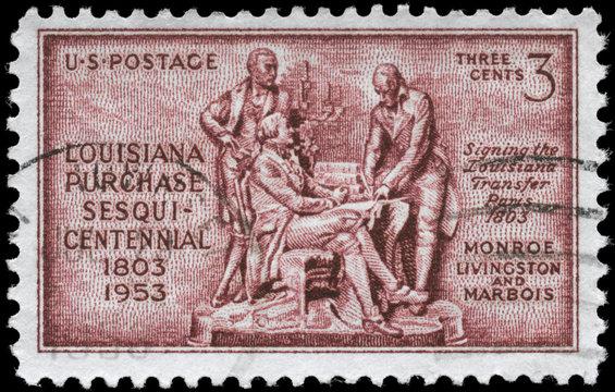 USA - CIRCA 1953 Louisiana Purchase