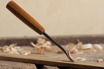 Shaping wood with a chisel