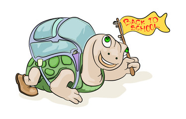 turtle go to school
