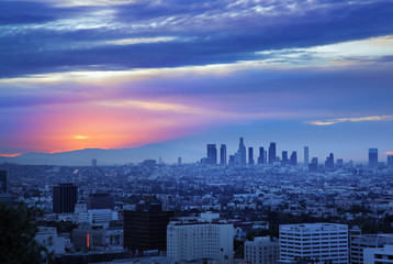Fototapete - Los Angeles sunrise panorama