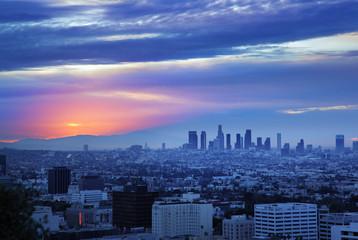 Fotobehang - Los Angeles sunrise panorama