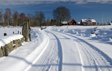 February panorama for Swedish village