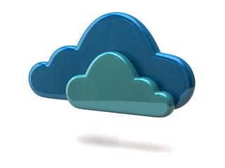 3d illustration of blue cloud