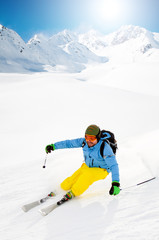 Freeride in powder snow