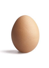 Egg on white with clipping path included