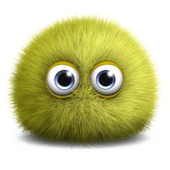 Spoed Fotobehang Sweet Monsters yellow toy