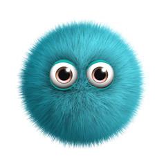 Foto auf AluDibond Nette Monster blue toy