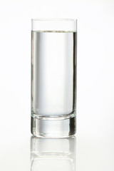 Glass of wather isolated on white.