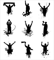 Set of silhouettes for sports championships