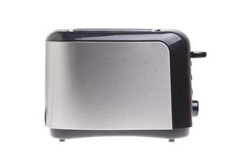 Metal toaster isolated on white