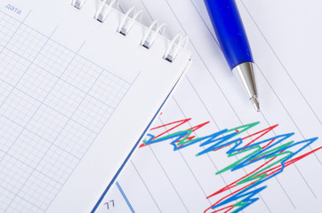 The chart business of growth and a pen