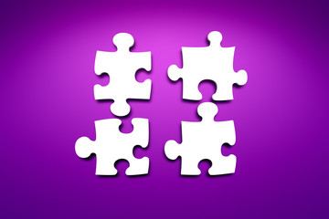 jigsaw puzzle white