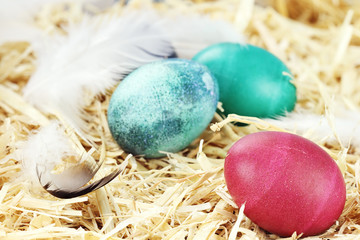 Easter Eggs in Straw